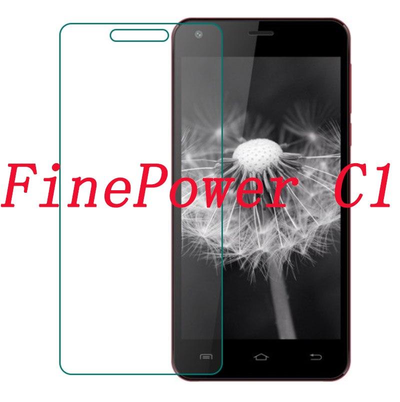 """Vidrio templado para teléfono inteligente para FinePower C1 5,0 """"película protectora a prueba de explosiones funda protectora de pantalla"""