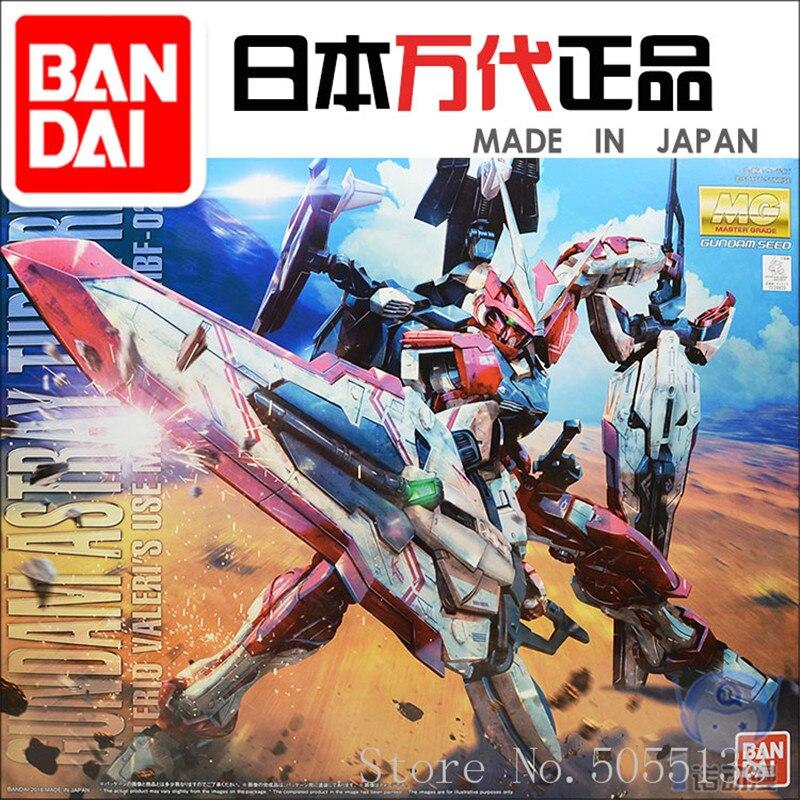 Bandai Gundam Model w magazynie montaż 24809 MG 1/100 manowce Turn Red Gundam figurka robota anime zabawki figurka na prezent