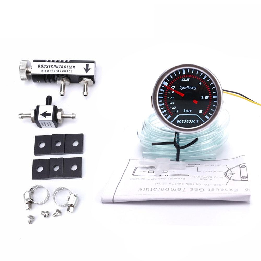 "Dynoracing 2""52mm Racing Car Turbo Boost Gauge -1~2Bar+ Adjustable Auto Turbo Boost Controller Kit 1-30 PSI IN-CABIN"