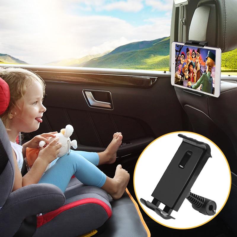 Автомобильный держатель для планшета, телефона на сиденье, регулируемая подставка для iPad, автомобильный держатель для телефона на подголов...