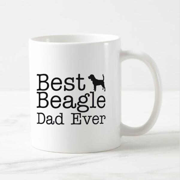 Новый Забавный подарок для любимой собаки, новинка, лучшая кофейная кружка Beagle Dad Ever, чашка для чая, крутые чашки для щенка, для папы, папы, мужа, чашки для животных
