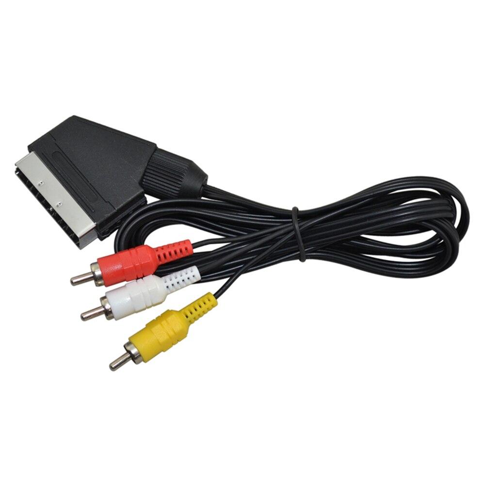 10 piezas un lote de alta calidad 1,8 m RGB Scart a 3 RCA Cable de Audio y Video para NES FC