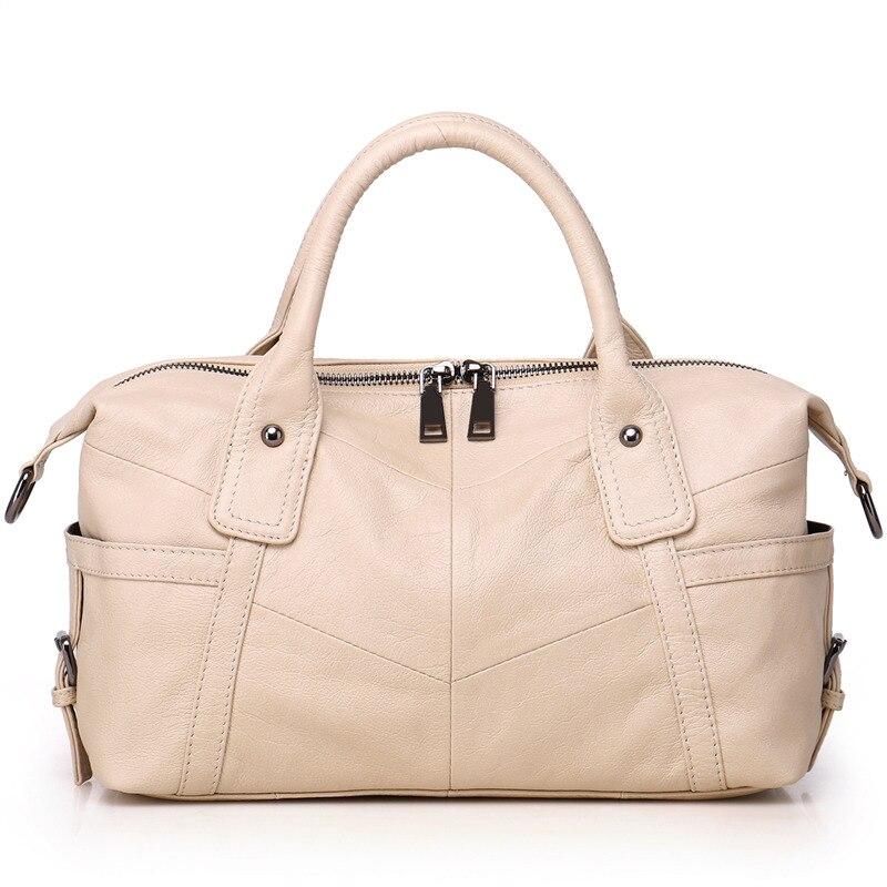 Nesitu, moda informal, café blanco, negro, gris, azul, bolso de mano de piel auténtica para mujer, bolsas de mensajero de hombro M8922