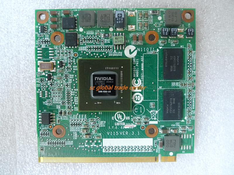 NVIDIA GeForce 9300 9300M GS 9300MGS G98-630-U2 DDR2 256MB 64Bit MXM II vg.9mgm0001 بطاقة VGA الكمبيوتر المحمول لشركة أيسر