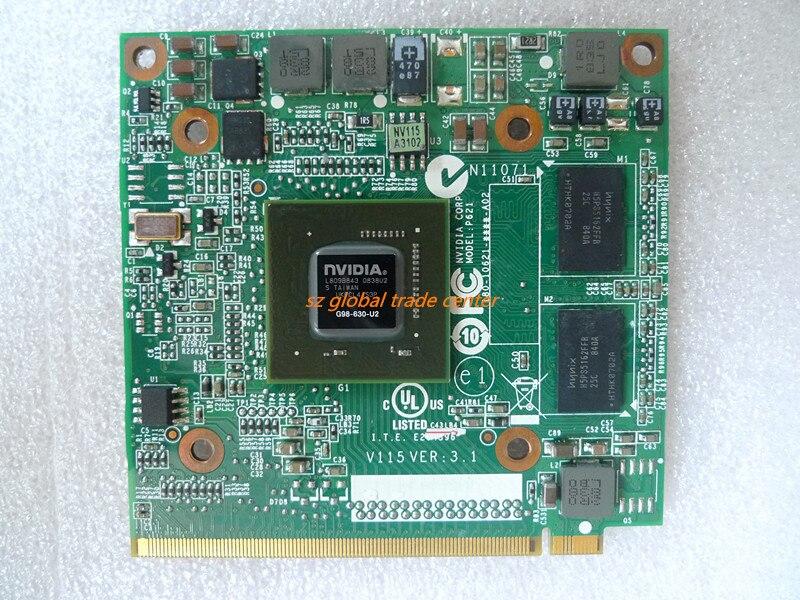 NVIDIA GeForce 9300 de 9300M GS 9300MGS G98-630-U2 DDR2 256MB 64Bit MXM II VG.9MG06.001 portátil tarjeta VGA para Acer