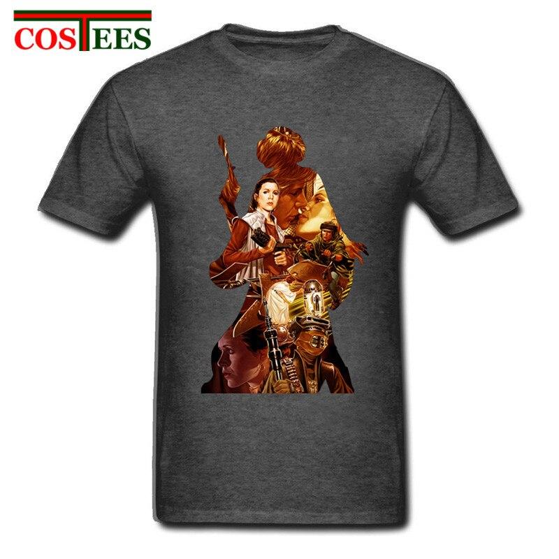 ¡Novedad de 2018! camisetas de algodón de princesa Leia REBEL de Star Wars para hombre de JEDI, camiseta Hipster personalizada de fitness Darth Vader para hombre