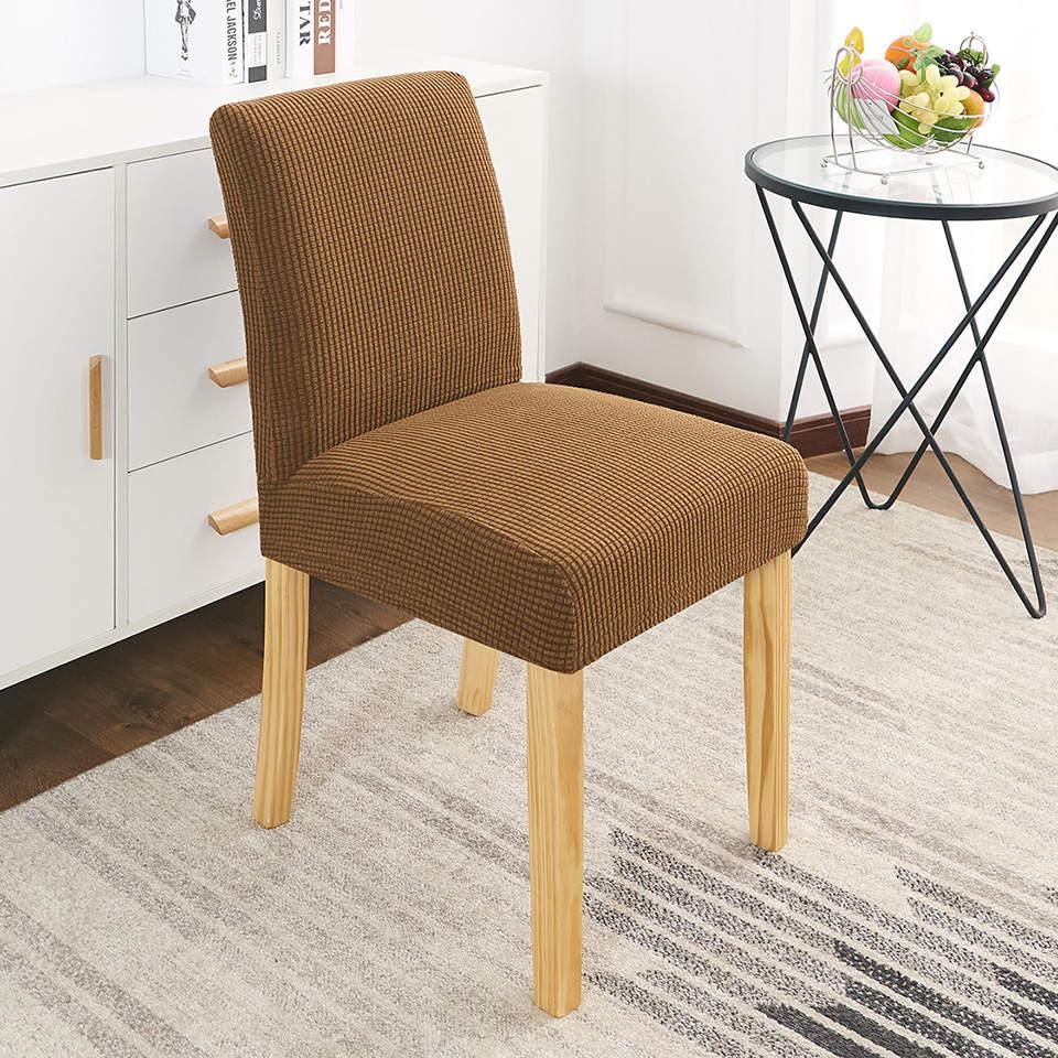 Cubierta elástica para sillas de tela Polar y forro Polar, cubierta elástica para comedor, cubierta para silla de LICRA para cocina y oficina