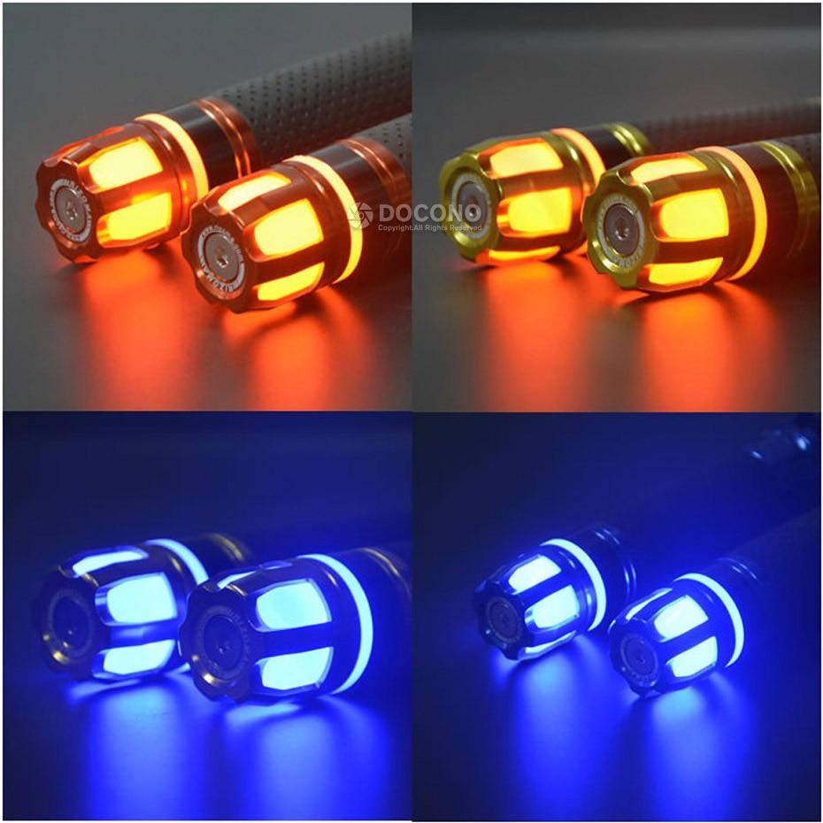 Empuñaduras universales de 22mm para manillar de motocicleta para yamaha yzf r1 r3 r6 mt 07 fz6 xj6 jog valentino rossi ybr