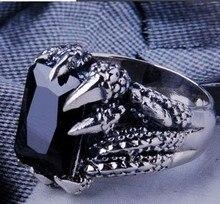 Handmade 925 Silver Dragon Paw Ring Vintage Thai Silver Dragon Power Man Ring Pure Silver Jewelry Finger Ring Gift