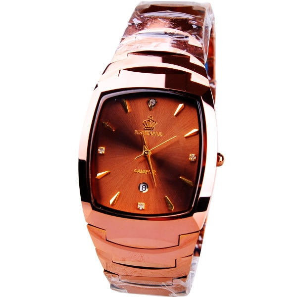 Origianl HK Brand  Beerbarrel shaped calendar male tungsten Stainless steel watches male Business watch 163752