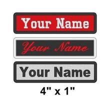 Personnalisé brodé Badge étiquette nominative coudre sur Patch moto Biker casquette écharpe sac gilet personnalisé Beanie Club Logo vente en gros