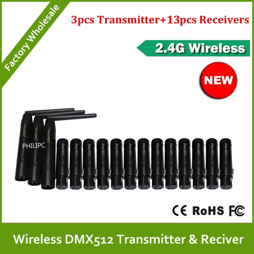 ¡Envío gratis por DHL! ¡la mejor calidad! 2,4G receptor transmisor inalámbrico dmx512, estabilidad de señal led dmx luces de disco controlador dmx