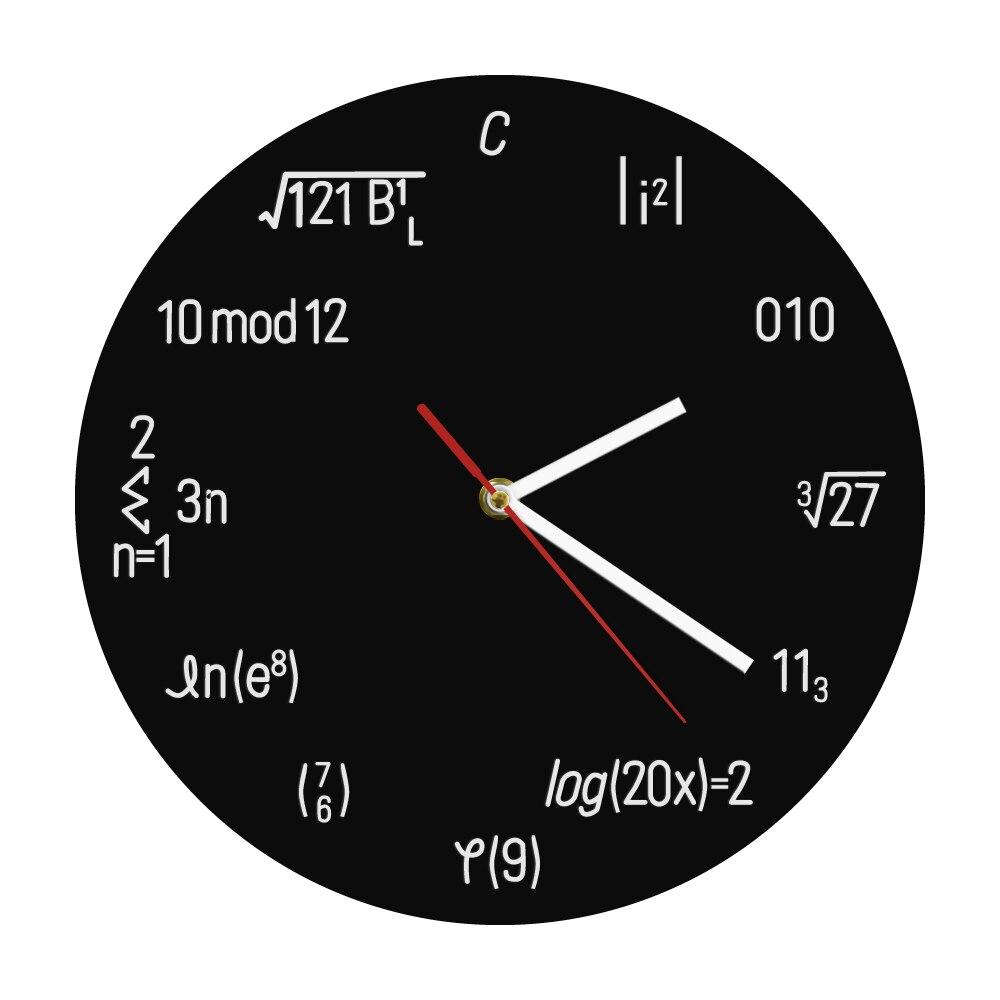 1 pieza de reloj de pared Geek, reloj de pared Nerdy, reloj redondo, fórmula de matemáticas, reloj de pared de cuarzo, Idea de regalo para estudiante profesor