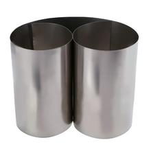 Mayitr 1pc argent mince feuille de titane Gr2 feuille de titane haute pureté Ti métal plaque carrée feuille feuille artisanat 0.1x100x500mm