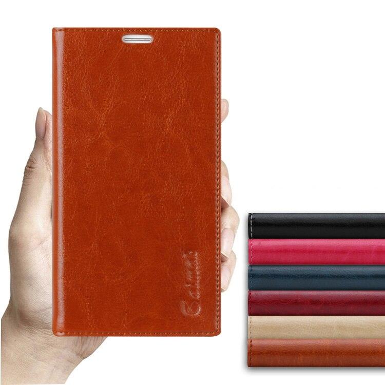 8 colores, funda del soporte abatible de cuero natural genuino de alta calidad para Meizu MX5 MX 5 maletines de lujo para teléfono móvil