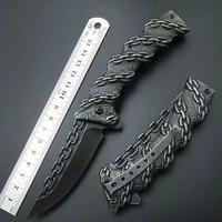 Просто нож с немного необычным внешним видом  И лезвие, и рукоять из 440C