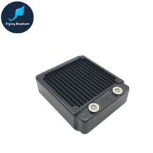 PC Su Soğutma Çift Sıralı boru radyatör Sıvı Serin Kalın Sıra Siyah 120 46mm Saf Bakır Yüzgeçleri