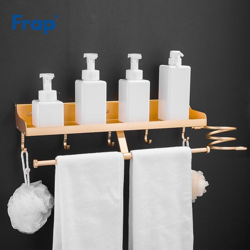 Frap-رف حمام متعدد الوظائف ، مع حامل مجفف شعر ، رف زاوية منزلي ، ملحقات حمام Y38012