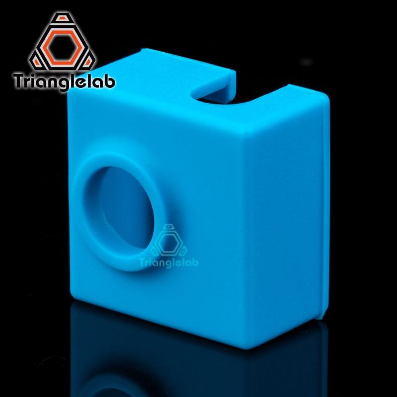 Trianglelab Картридж нагреватель bock силиконовые носки MK8/ MK9/CR10 тепло блок носки для ENDER 3 CR10 MK8 MK9 HOTEND 3D принтер части
