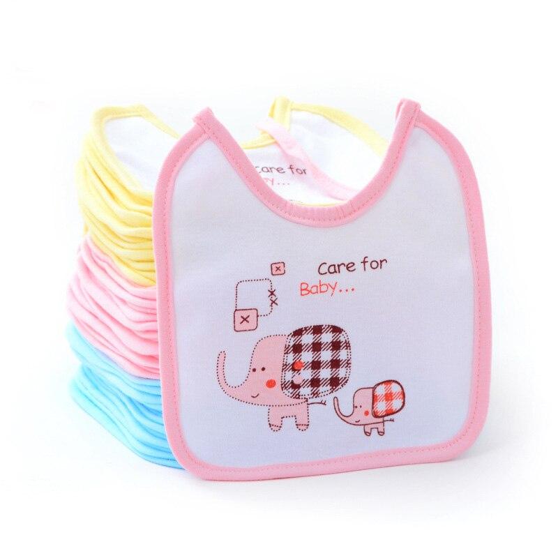 Babadores para bebês meninas e meninos, 1 peça, desenhos animados, algodão, elefante, presente para saliva, toalha para alimentação, pano impermeável, infantil