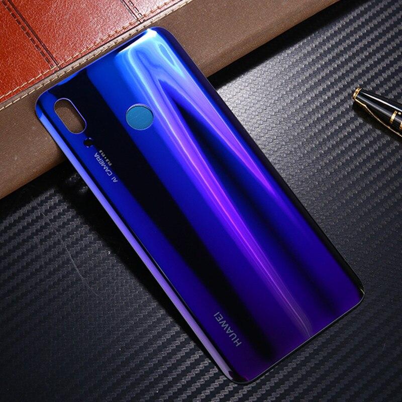 Para Huawei nova 3, Funda de cristal Original oficial para Huawei nova 3, carcasa trasera para batería, pieza de repuesto