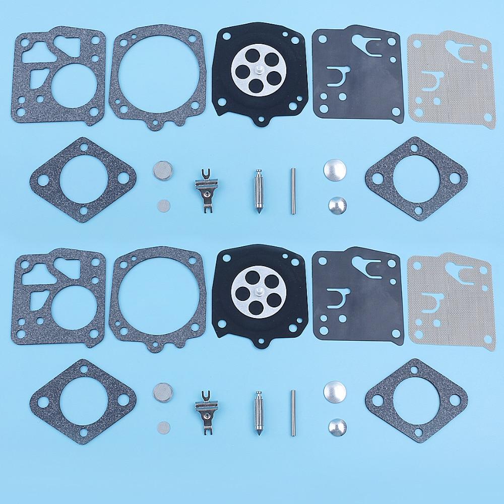 2 uds Kit de carburador de TILLOTSON RK-23HS RK-17HS HOMELITE XL SXL915 STIHL 051 socio 40 K1200 eco CS60 JONSERED 625, 630