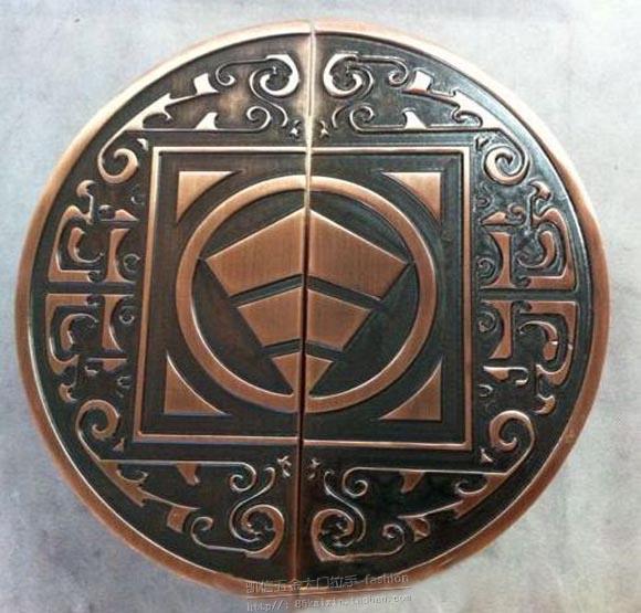 الصينية العتيقة نصف دائري الباب مقبض شعار البرونزية مقبض الباب الزجاجي باب الترف مقابض