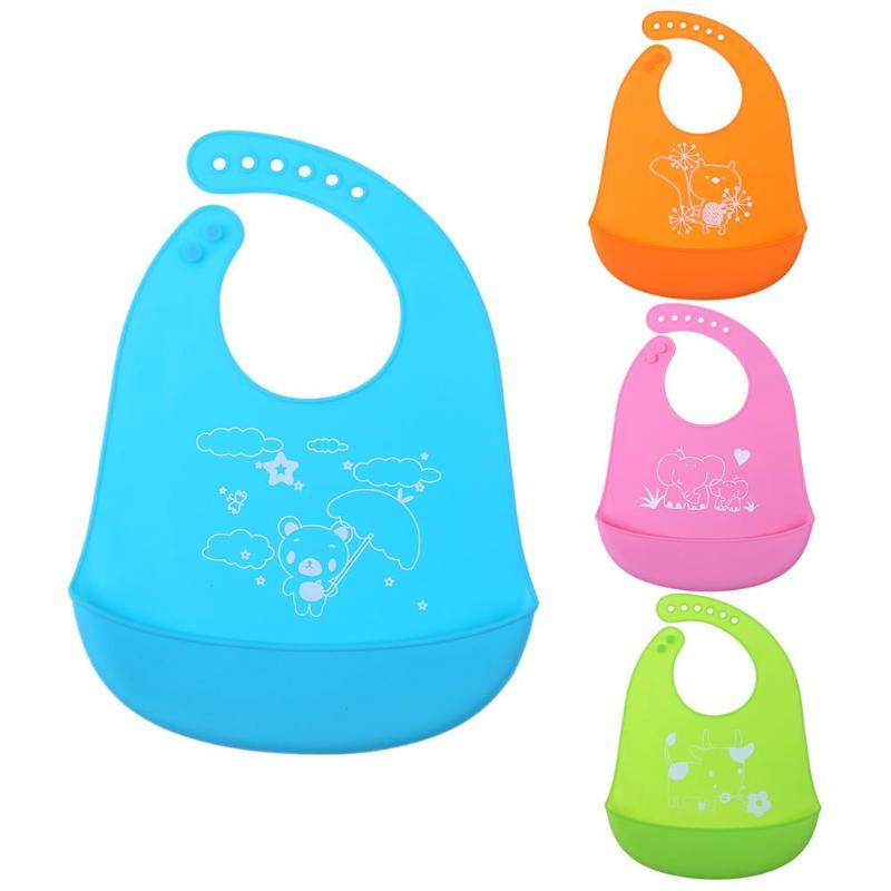 Cute Cartoon Newborn Baby Bibs Baby Silicone Waterproof Burp Clothes Infants Baby Care Feeding Saliva Towel Kids Food Care Props