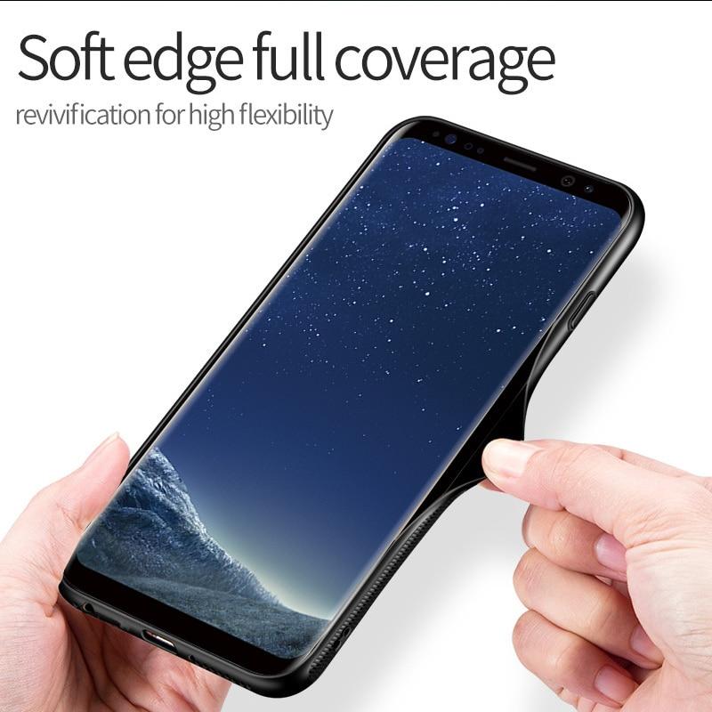Avengers niespodzianka Batman świecące szklane etui do Samsung Galaxy S8 S9 S10 Plus uwaga 8 czarna pantera skórzane etui