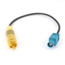 """10 unidades Fakra z macho a RCA macho Fakra macho """"Z"""" Cable Coaxial de puente recto coleta para Radio RG174 Cable Pigtail 20cm"""