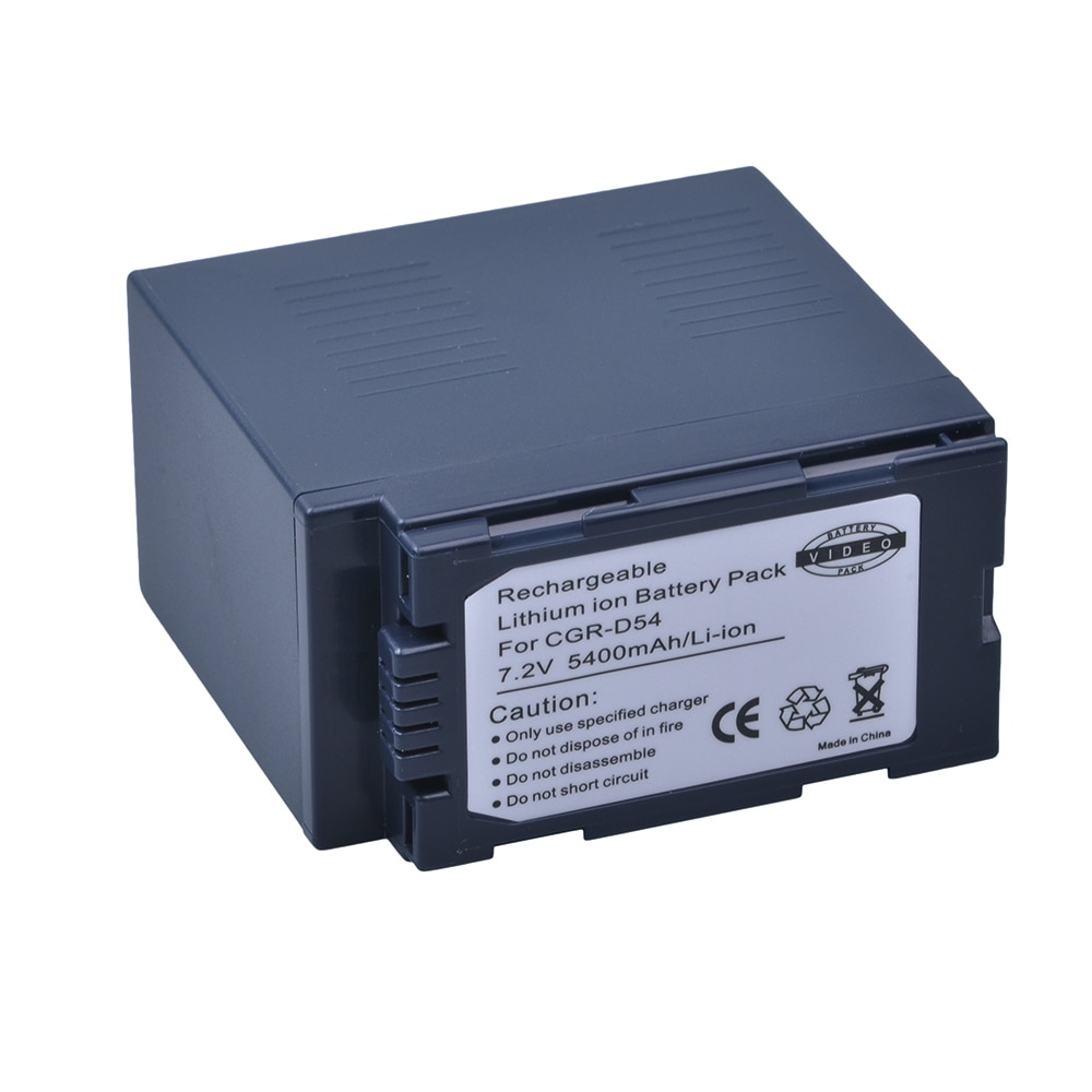 Аккумулятор для камеры CGA D54 D54S, 1 шт., 5400 ма/ч, для Panasonic, CGA-D54, Panasonic, CGA-D54, для Panasonic, для,