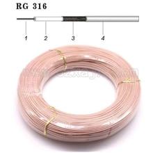 Câble coaxial RF RG316 5 mètres   16,4ft, câble coaxial 2.5mm 50 ohms, faible perte pour connecteur à sertir, expédition rapide