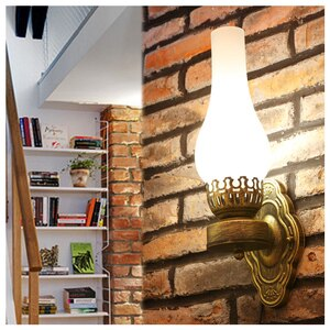 Vintage Style Barn Lantern Vintage Kerosene Oil Light Bedroom Wall Lamp For Balcony Hall Cafe Bar Club Coffee Shop