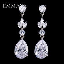 EMMAYA-boucles doreilles en cristal CZ pour femmes, bijoux, Vintage, fête de mariage, idée cadeau