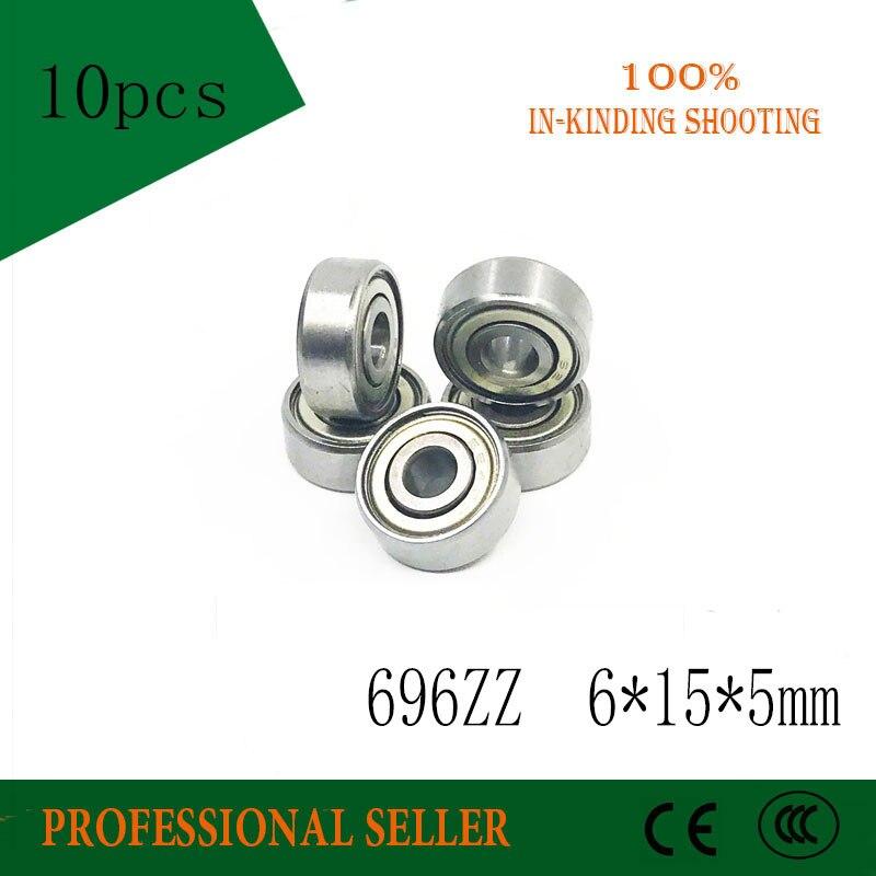 10pcs Skate board bearing 696ZZ 696-2Z 696-Z 696 6x15x5 mm ABEC-3 shoe bearing
