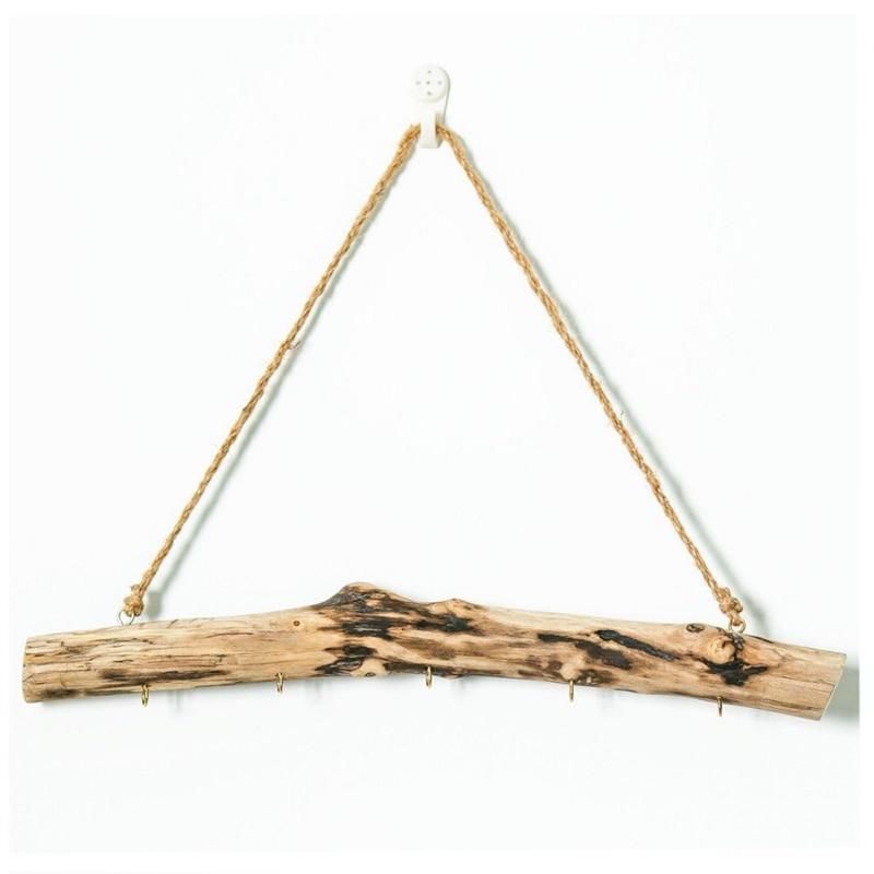 High Quality Driftwood Storage Hanging Rack Key Jewelry Door Hook Household Storage Hanging Rack