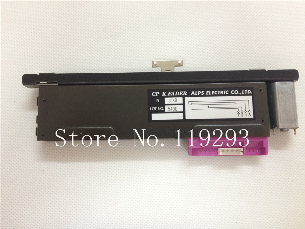 New original CP K.FADER ALPS ELECTRIC CO, LTD 10KB B10K 13MM T-handle with motor rail fader NC Taiwan Slide Potentiometer--10PCS