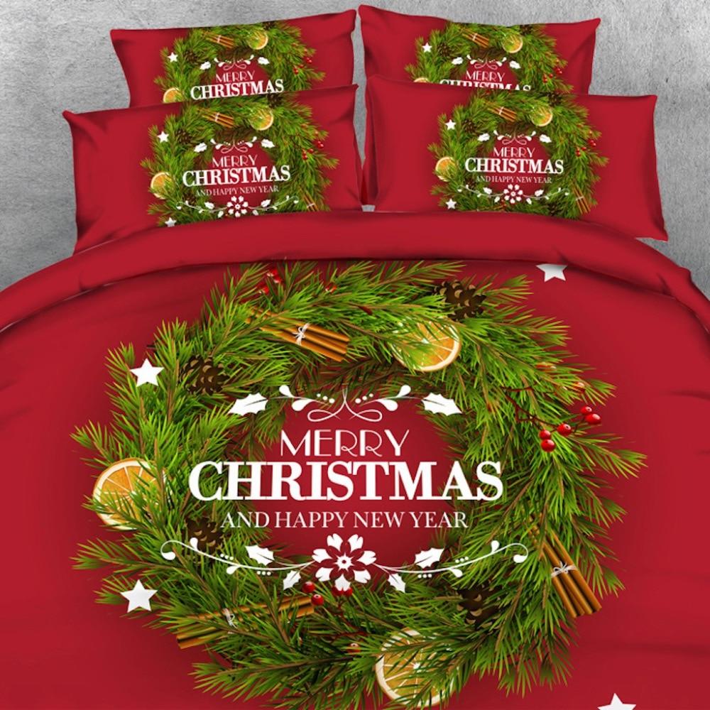 Goldeny, 4 piezas por juego, Feliz Navidad, saludos, juego de ropa de cama 3D, edredón, juego de ropa de cama
