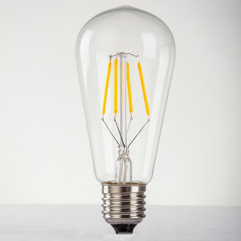 Edison Individuality LED E27 220V Retro 4W ampolla Vintage bombillas decoración Industrial espiral lámparas incandescentes