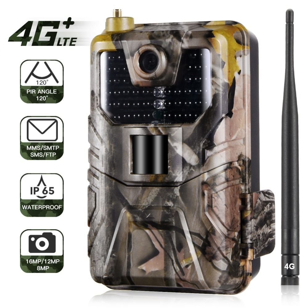 HC-900LTE 4G Hunting Camera 20MP 1080P MMS/SMS/SMTP/FTP Trail Camera IP65 0.3s Photo Traps 940nm infrared LED scout Wild Camera недорого