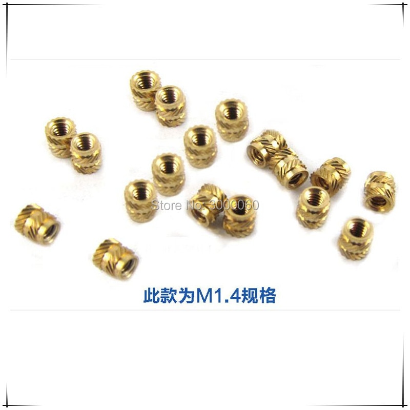 Купить с кэшбэком M1.6*2.5mm(OD)*4mm(H) Injection Molding Round Knurled Insert Nuts 500pcs/lot