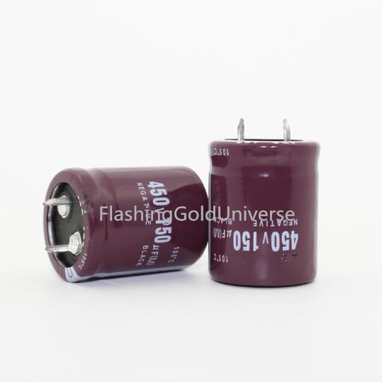 10 PÇS/LOTE 25*30 DIP capacitores Eletrolíticos 450V 150uF melhor qualidade