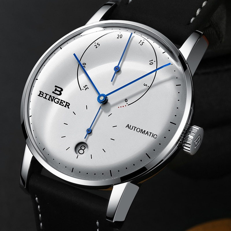 Switzerland BINGER мужские часы люксовый бренд автоматические механические мужские часы сапфировые мужские японские мужские часы для перемещения t reloj hombre B1187-0