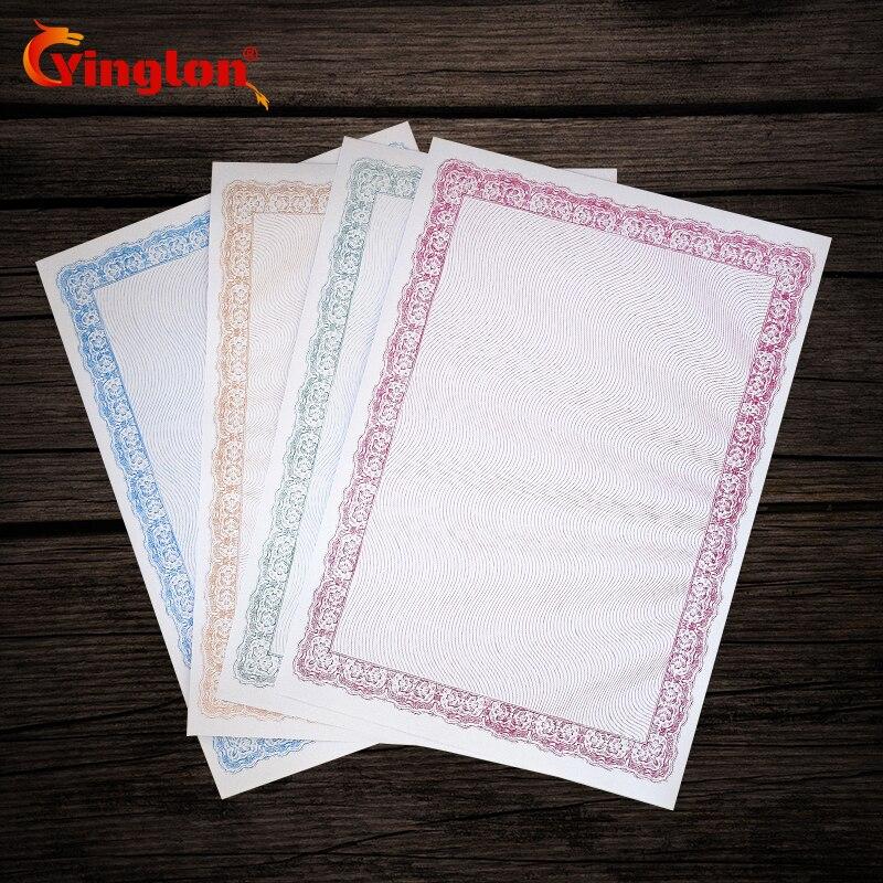 Бесплатная доставка 25 шт./лот бумага для сертификатов 180 г утолщаются A4 печати