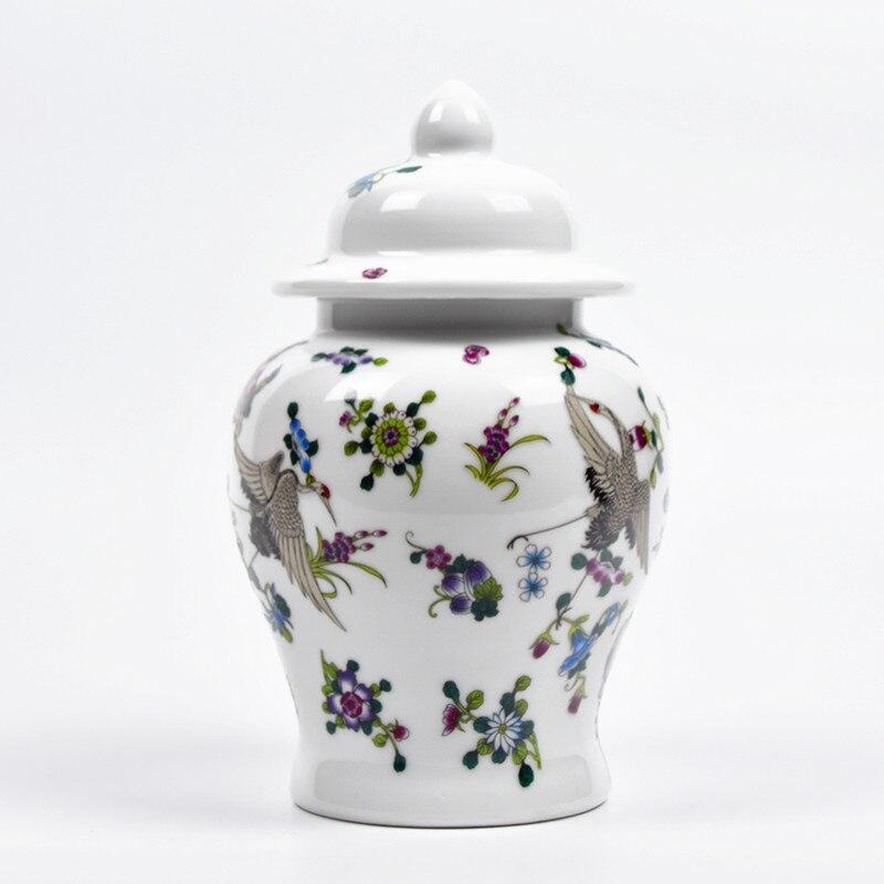 Vase en céramique lumineuse Antique   Vase général, Noctilucence, fleurs couvert par le chapeau, bocaux de gingembre, ornement cadeau créatif pot de gingembre