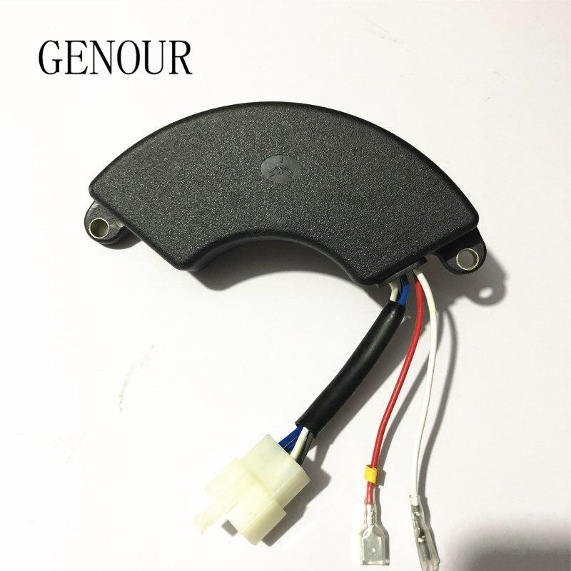 177F 3KW AVR para generador monofásico, regulador de voltaje automático, 6 cables, generador de 5kW, regulador de voltaje automático 250V 470UF