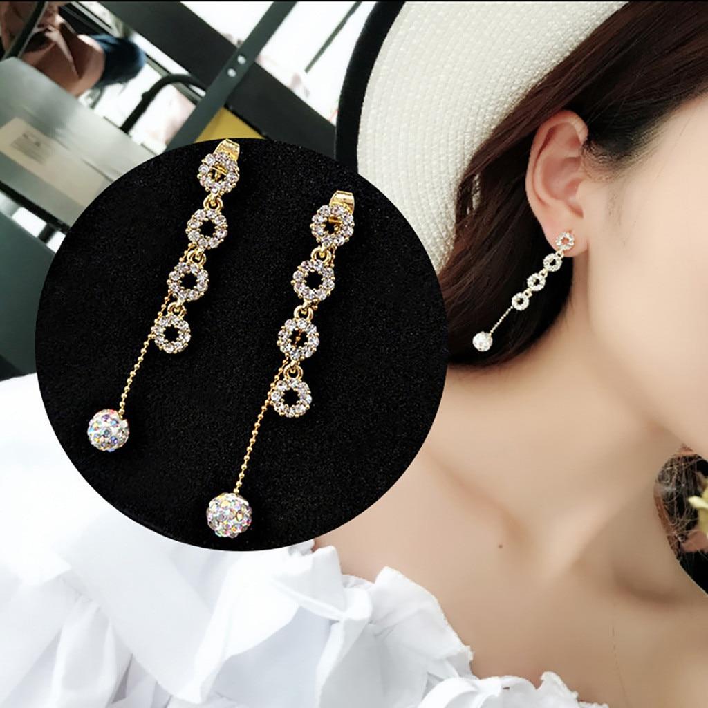 Brincos femininos boho brincos para jóias femininas doce borla brilhante boucle doreoreille femme 2019 kolczyki pendientes mujer gd l0711