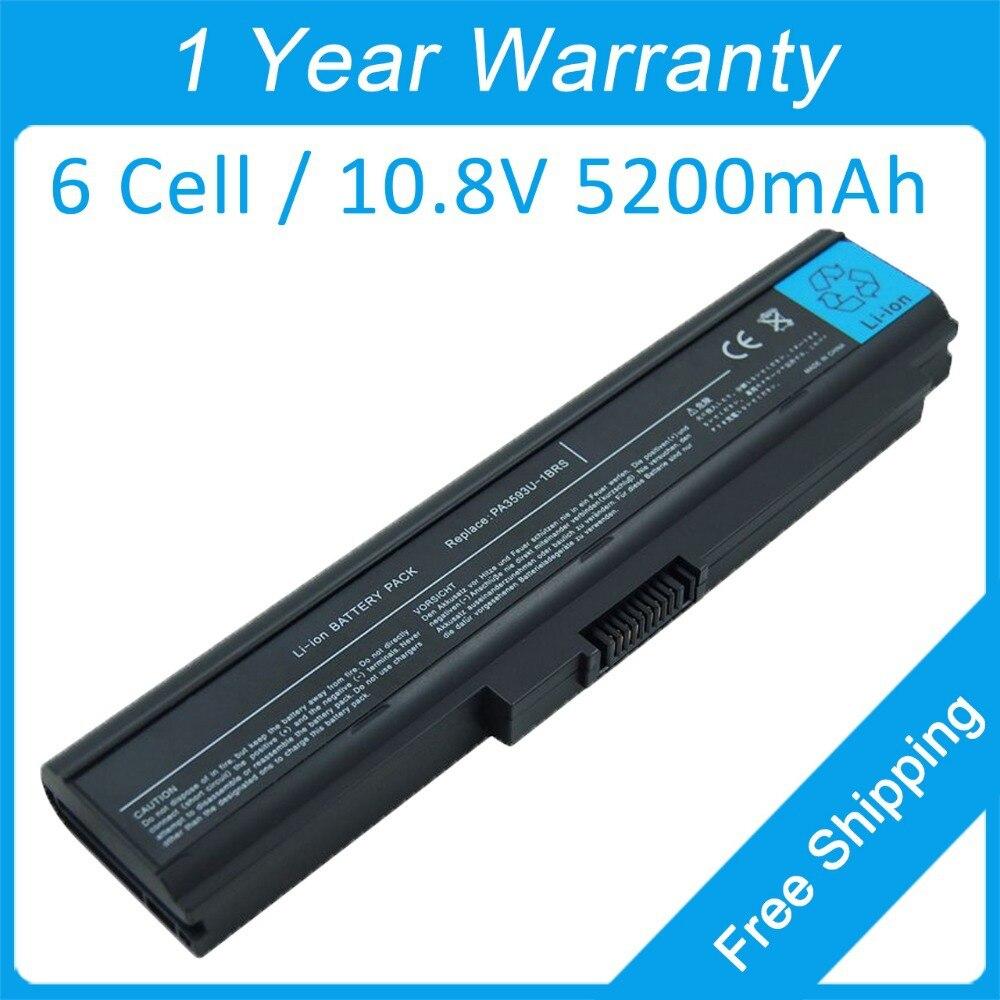 New 5200mah laptop battery for toshiba Satellite Pro U300 U305 PABAS111 PABAS112 PABAS110 PA3595U-1BRM PA3594U