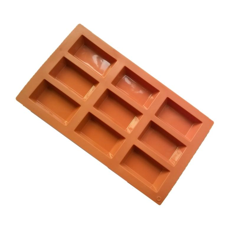 Herramienta de horneado de 9 cavidades, molde de silicona, Red francés, moldes...