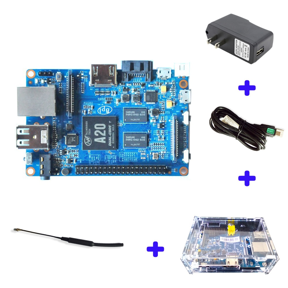Originele Banaan Pi Bpi M1 Plus A20 Dual Core 1Gb Ram Development Board Single Board Computer (Sbc) raspberry Pi